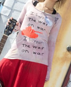 support the war on war t shirt