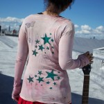 long sleeve pink organic peace tee