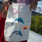 dolphin graphic organic produce bag